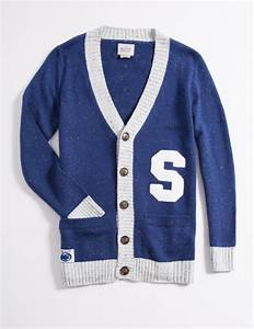 wool blend penn state cardigan hillflint luxury With penn state letter sweater