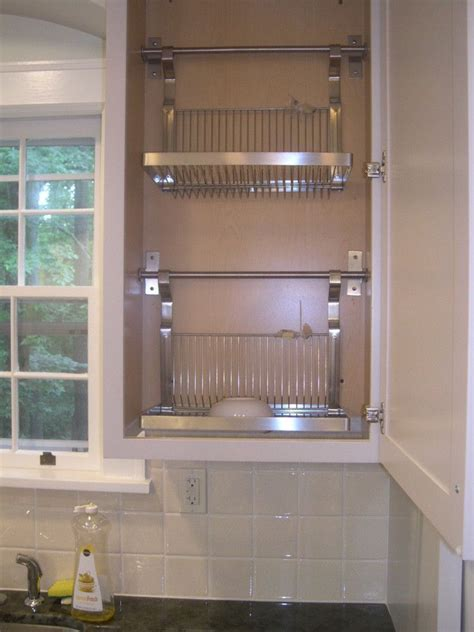 kitchen drying rack i had the bottom of a standard wall cabinet cut out and