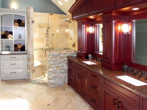 rich masculine bathroom cabinets  graber