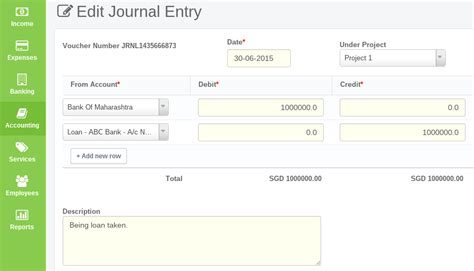 advanced accounting  journal entry