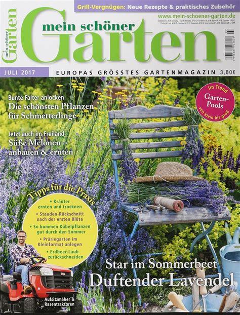Mein Schöner Garten by Mein Sch 214 Ner Garten 7 2017 Zeitungen Und Zeitschriften