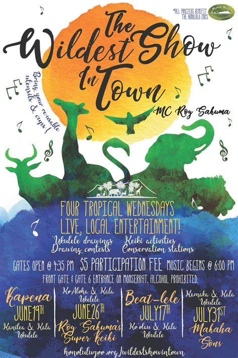 What Are You Bringing To The by Wildest Show In Town Summer Concert Series Hawaii