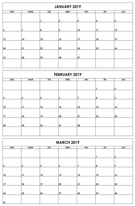 months printable calendar quarterly calendar