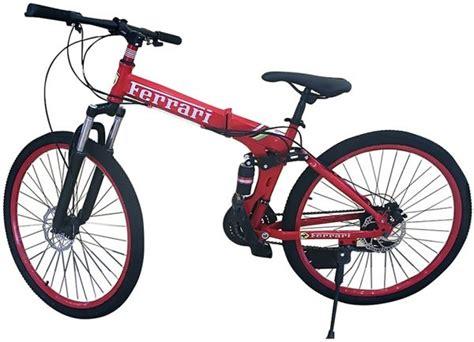 ferrari   foldable bicycle fs  redblack
