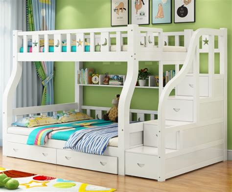 buy hot sale kids double deck bed wooden