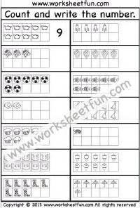 numbers  words images  printable