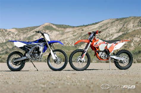2015 Ktm 250 Xcf Vs Yamaha Yz250fx  Motorcycle Usa
