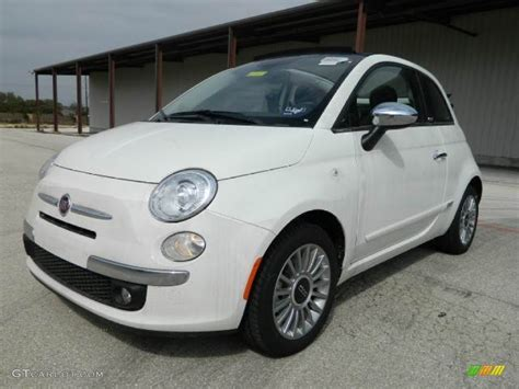2012 Fiat 500 Lounge by Bianco White 2012 Fiat 500 C Cabrio Lounge Exterior
