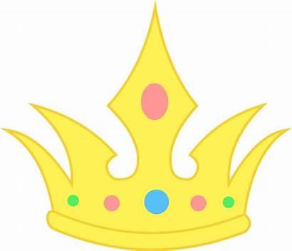 Clip Crown Clipart Simple Pastel Royal Cartoon