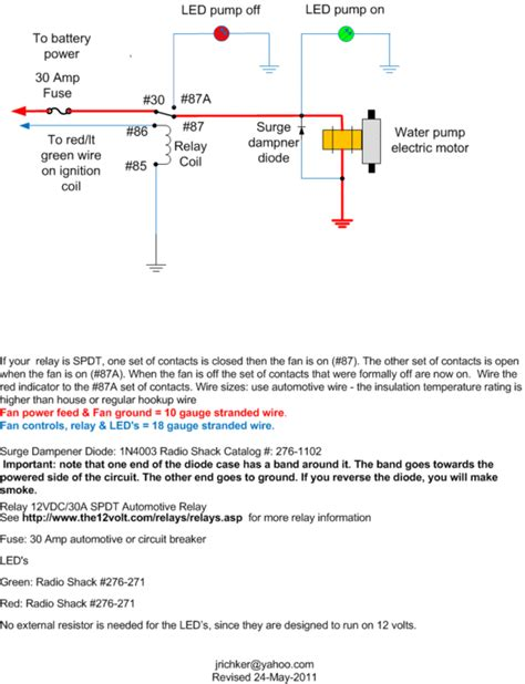 Advice Wiring Csr Electric Waterpump Mustang