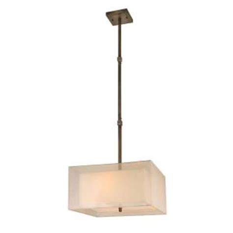 hton bay angelina collection 3 light rust pendant