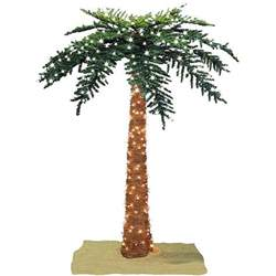 lighted willow branches faux tropical royal 7 foot pre lit palm tree free