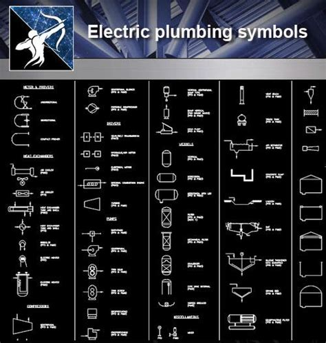 【Free Symbols CAD Blocks】Electric plumbing symbols