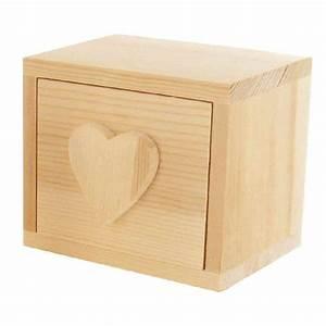 Boite A Tiroir : boite tiroir d co c ur grand mod le objets en bois sur planet eveil ~ Teatrodelosmanantiales.com Idées de Décoration