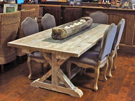 mobile kitchen island butcher garden trestle table made from reclaimed barn