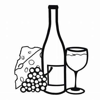 Wine Clipart Glass Bottle Grapes Clip Templates