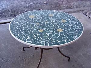 Table De Jardin Mosaique : table basse ronde mosaique le bois chez vous ~ Teatrodelosmanantiales.com Idées de Décoration