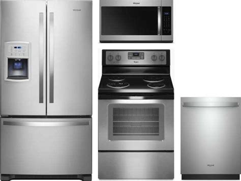 whirlpool  piece appliance package  wrfcdhz refrigerator wfcses electric range