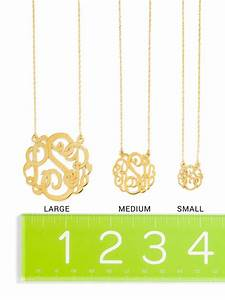 1000 ideas about s monogram on pinterest initials With ribbon letter monogram necklace