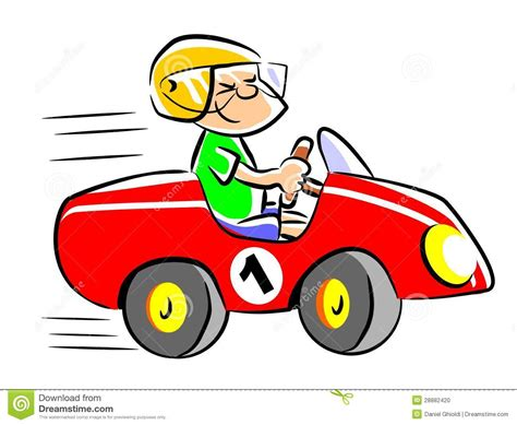 My Red Toy Car Stock Vector. Illustration Of Smiling