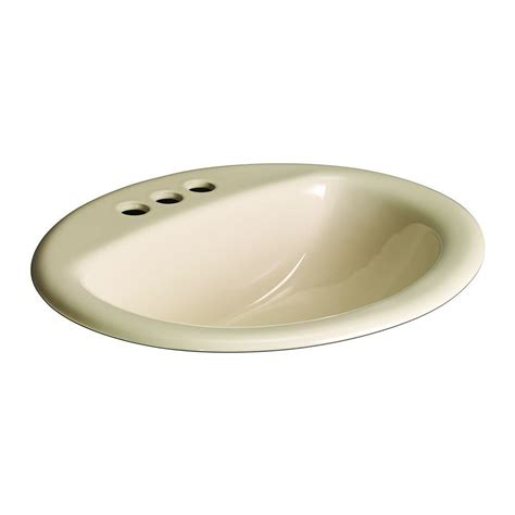 glacier bay bathroom sinks glacier bay aragon self rimming drop in bathroom sink in