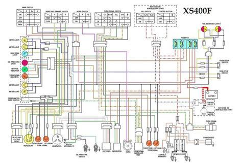 1981 Yamaha 400 X Wiring Image by Xs400f Wiring Diagram Motorcycle Wiring Diagrams