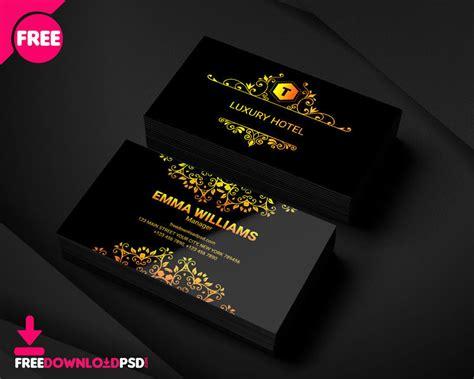 luxury hotel business card template freedownloadpsdcom
