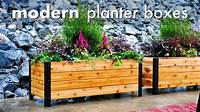 build a planter box DIY Modern Raised Planter Box // How To Build - Woodworking - YouTube