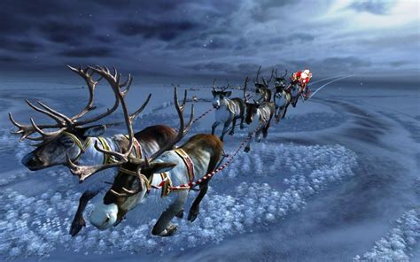 Santa S Workshop Wallpaper Animated - santas sleighride wallpaper nature and landscape