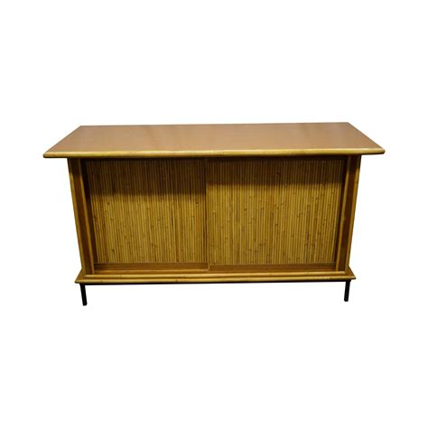 Wicker Credenza - mid century bamboo rattan sideboard credenza chairish