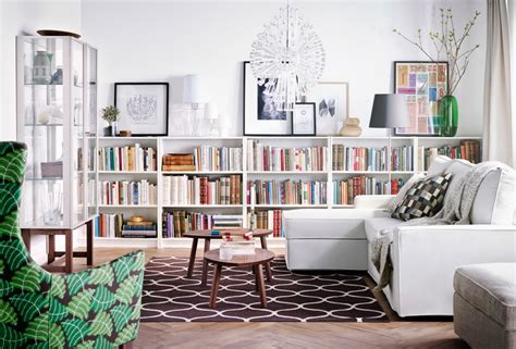 ikea living room ideas 2015 b 252 cherregal im wohnzimmer inspiration ikea