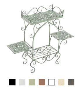 Etagere Shabby Chic by Flower Rack Estera Plant Stand 4 Shelves Antique Butterfly