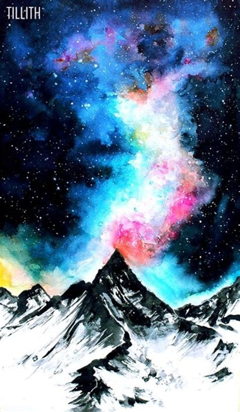 super cool milky  paintings  outerspace lovers