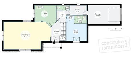 attrayant plan d une maison moderne 5 villa d233tail du plan de villa faire construire sa