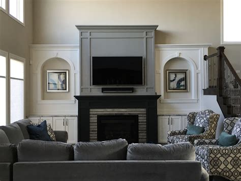 white paint color for fireplace gray great room fireplace wall paint colors sherwin