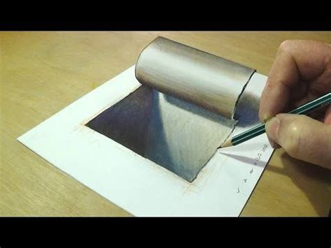 Very Easy How To Drawing 3d Floating Letter A 2 Anamorphic Illusion