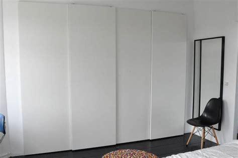 Pax Doors & White Three Door Pax Wardrobe With Mirror Door