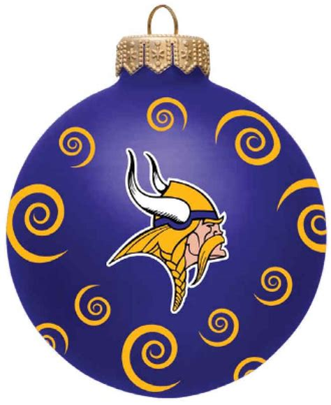 minnesota vikings 3 quot team swirl ball christmas ornament