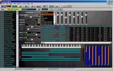 The Editing Programs For Korg, Alesis And Waldorf