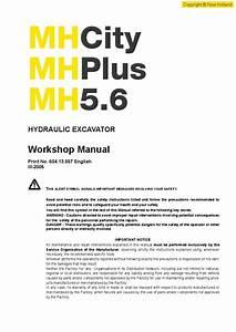 New Holland Mh5 6 City Plus Wheel Ecravator Workshop