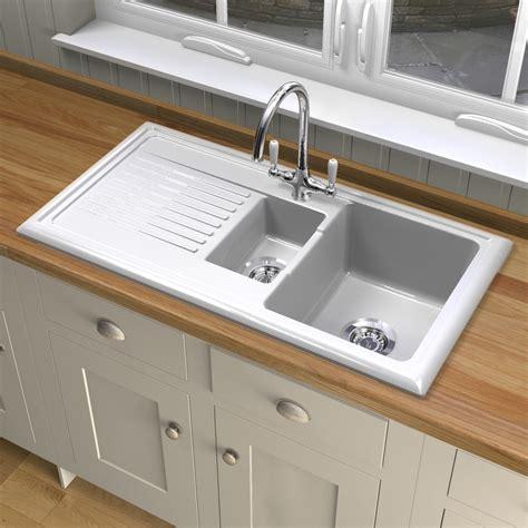 ceramic white kitchen sink reginox rl301cw ceramic sink and elbe tap sinks taps 5210