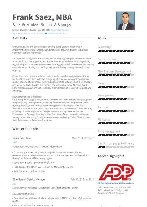 sales executive resume samples vvengelbertnl