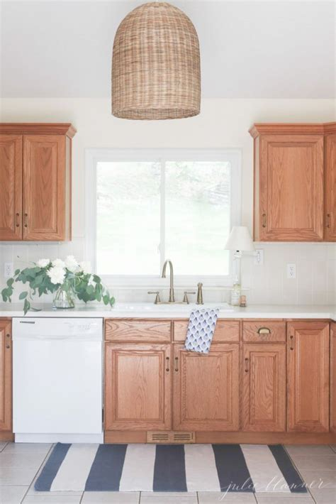 kitchen cabinets white how to create an updated look without painting the oak 6259