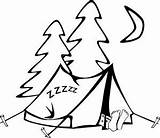 Camping sketch template