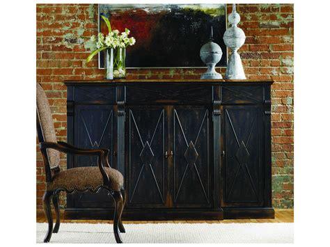 hooker furniture sanctuary ebony drift    rectangular credenza buffet hoo