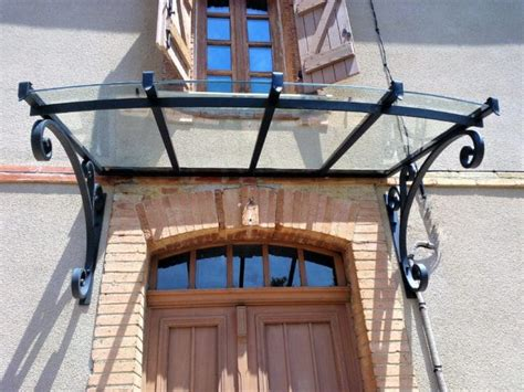marquise auvent fer forg 233 inox contemporaine sur mesure toulouse fabrication et pose