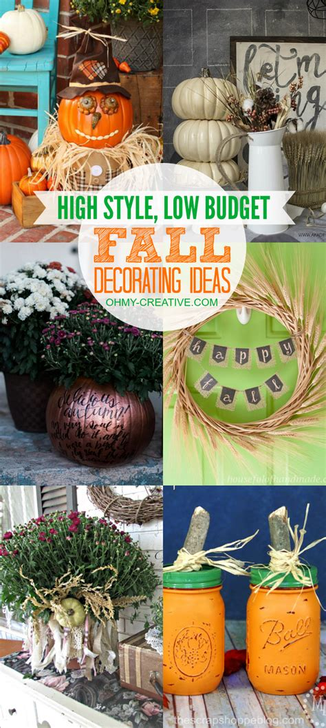 inexpensive fall decorating ideas high style low budget fall decorating ideas