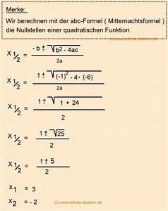 Nullstelle Berechnen Quadratische Funktion : abc formel mitternachtsformel vs pq formel aufgaben mit ~ Themetempest.com Abrechnung