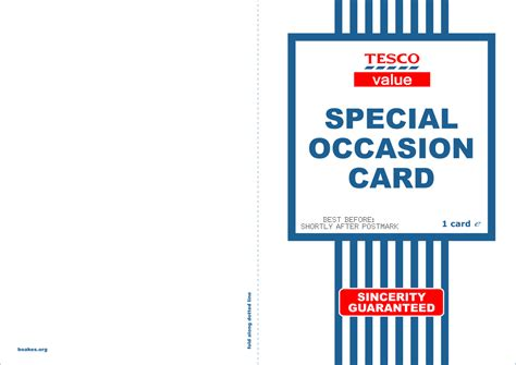 Printable Tesco Value Valentines Card