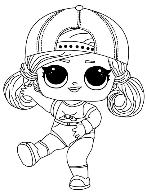 Cute Surprise LOL Doll Printable Coloring Pages Print